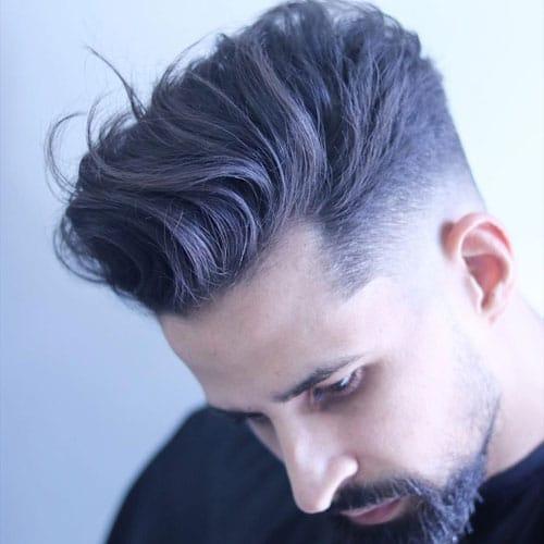 Low Cut Fade + Longer Textured Top
