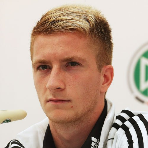 Marco Reus Hair - High Taper Fade with Side Part