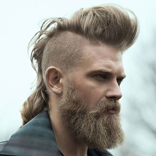 Pomp Mohawk with Beard