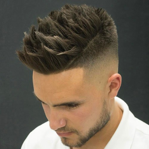 Shaved Sides + Thick Textured Spikes