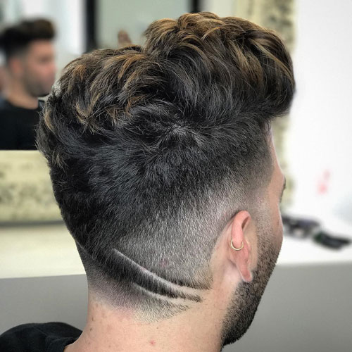 Short Pomp + Mid Fade + Hair Design