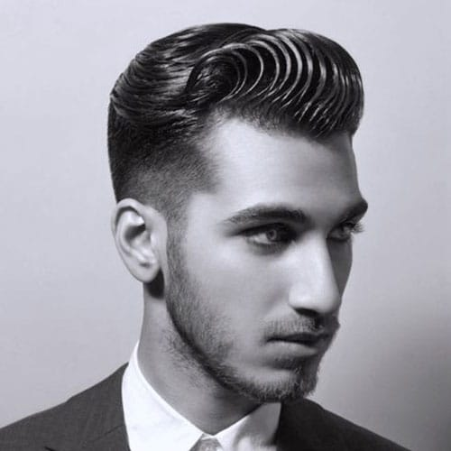 Wonderful Swoop Pompadour + Faded Sides