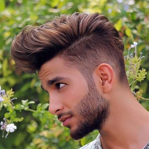Taper Fade + Textured Thick Comb Over