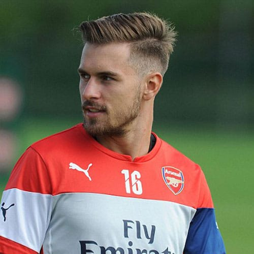 soccer player haircuts aaron ramsey haircut 9510