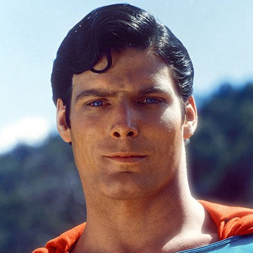 Christopher Reeve Superman Hairstyle - Side Part