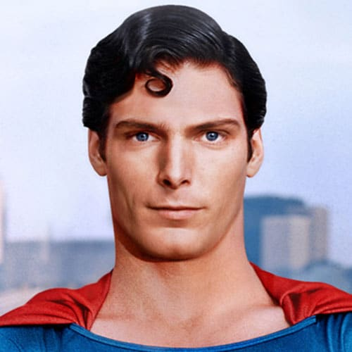 Christopher Reeve's Superman Hairstyle - Long, Thick Comb Over + Curl
