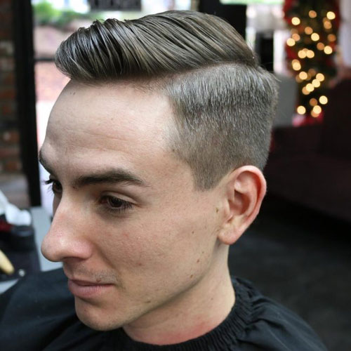 Classic Taper + Thick Comb Over
