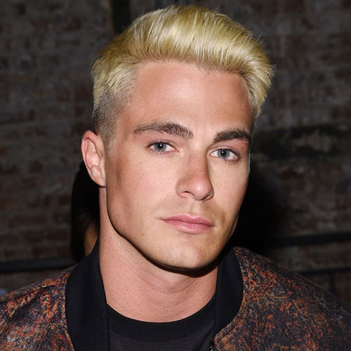 Colton Haynes Hair - Mid Fade + Comb Over + Blonde Hair