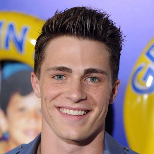 Colton Haynes Haircut - Short Sides + Brushed Up Hair