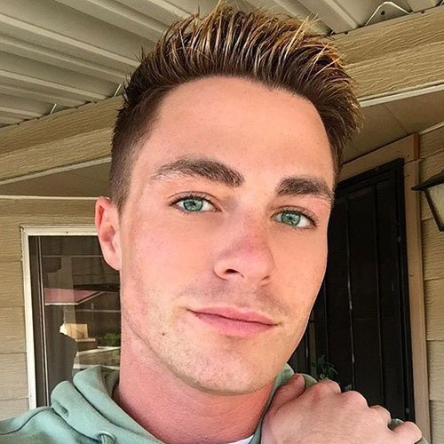 Colton Haynes Haircut Styles - Undercut + Spiky Hair