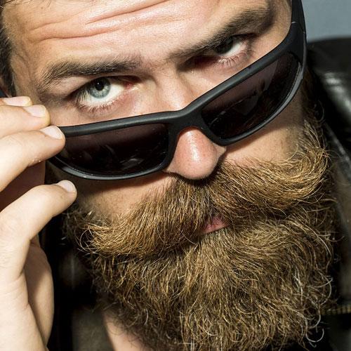 Curled Mustache + Beard