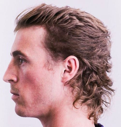 Curly Hair Mullet