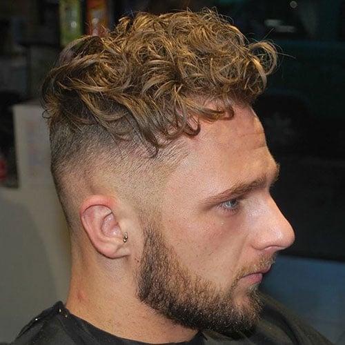 Curly Hair + Undercut + Beard
