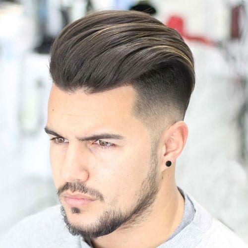 Disconnected Undercut + Textured Combed Back Hair