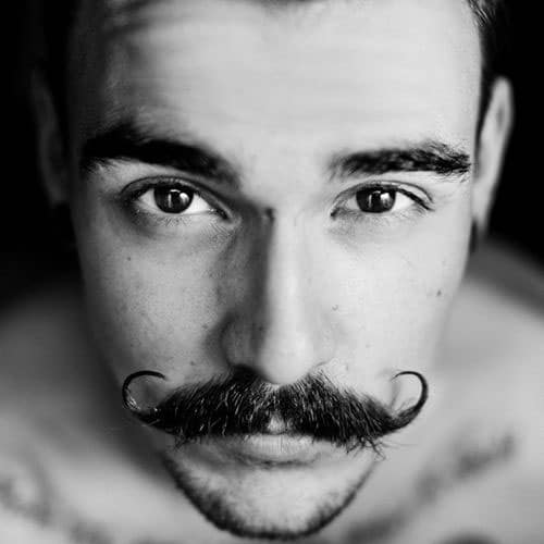 Epic Handlebar Mustache + Curly Ends