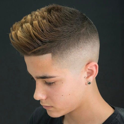 High Skin Fade Undercut + Spiky Hair + Line Up