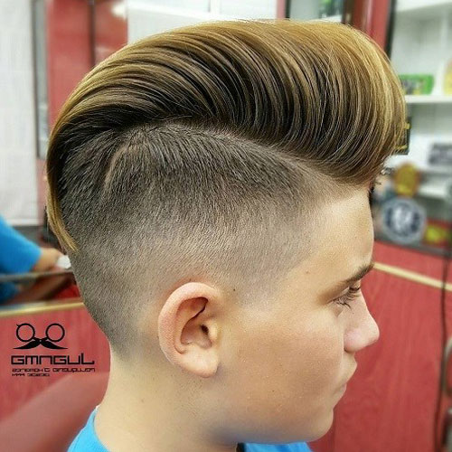 High Undercut Fade + Long Comb Over Pomp
