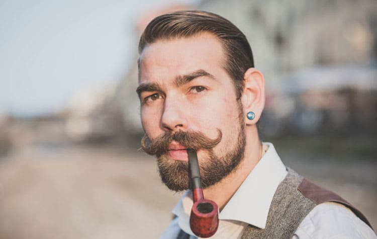 How To Grow A Handlebar Mustache Men S Hairstyles