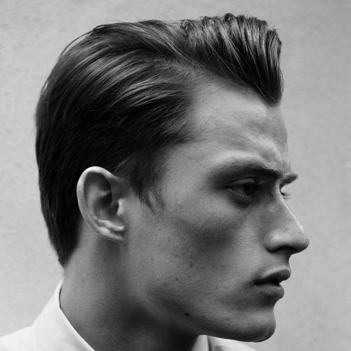 Long Tapered Sides + Parted Hair