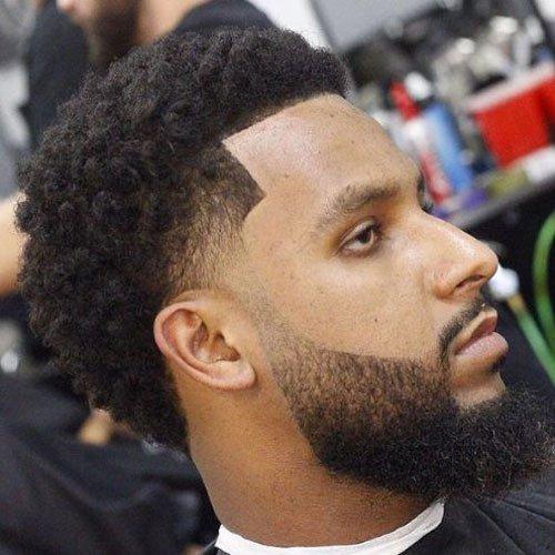 Low Drop Fade + Edge Up + Afro