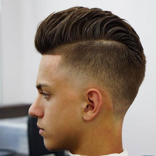 Low Fade Undercut + Faux Hawk