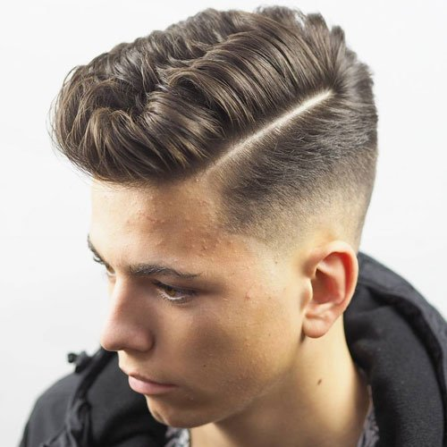 Low Taper Fade + Hard Part + Short Hair