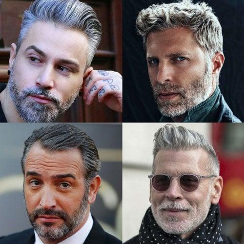 Männer mit Silbernen Haaren