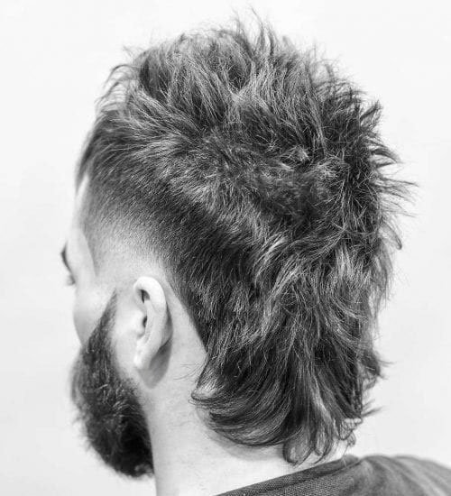 Messy Modern Mullet with Low Taper Fade