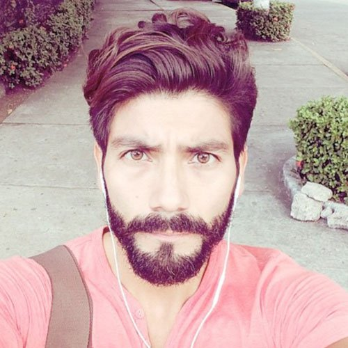 Mexican with Beard - Thick Textured Quiff