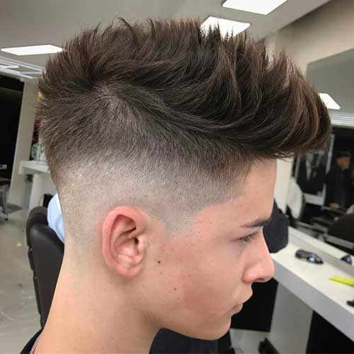 Mid Fade + Spiky Hair