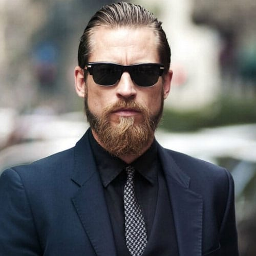 Modern Slick Back + Beard