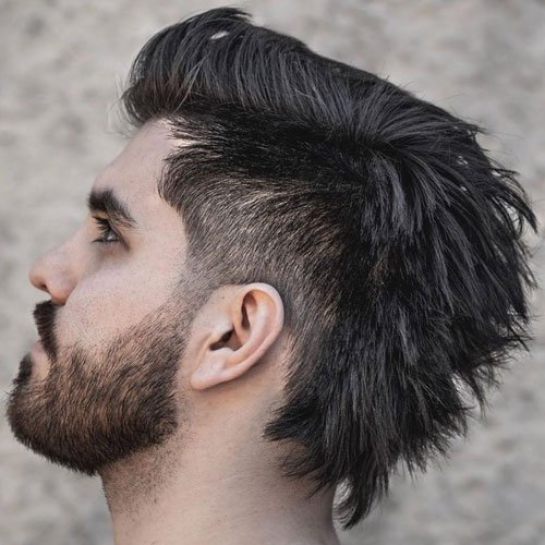 Mullet with Taper Fade
