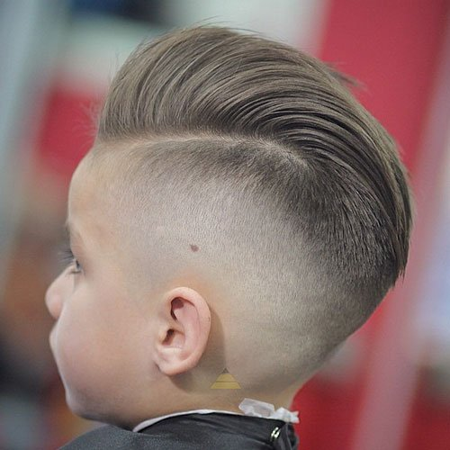 Pompadour with High Skin Fade
