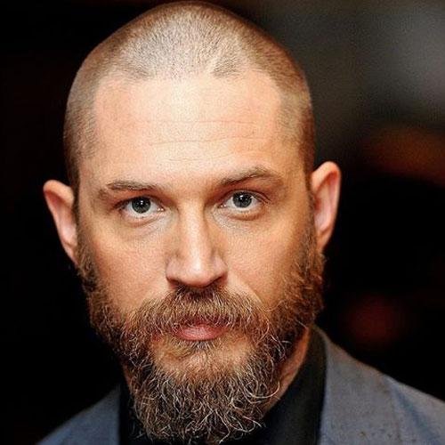 Shaved Head + Long Unkempt Beard