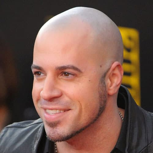 Shaved Head + Thick Chinstrap + Soul Patch + No mustache