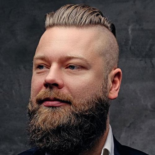 How to slick back hair mens hairstyles haircuts 2018 shaved sides thick slick back full long beard urmus Choice Image