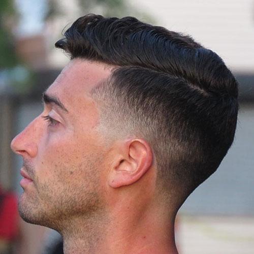 Short Comb Over + Low Drop Fade