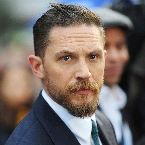 Side Swept Hair + Bushy Beard