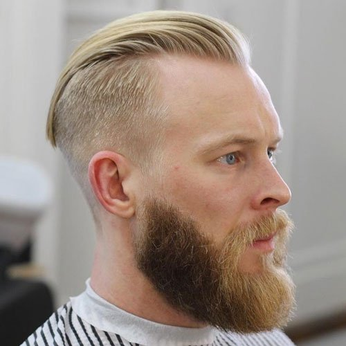 Slick Back Undercut Fade + Thick Long Beard