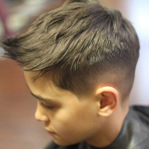 Spiked Hair with Taper Fade