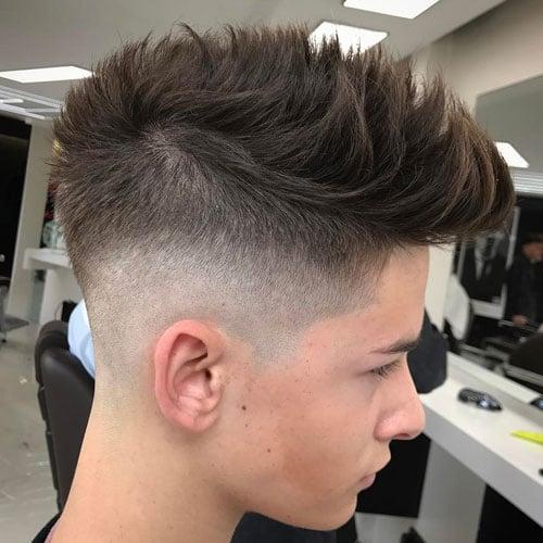 Spiky Hair + High Bald Fade