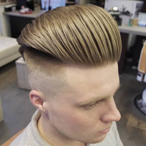 Textured Slicked Back Undercut Fade