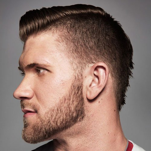 Bryce Harper - Undercut with Comb Over and Beard