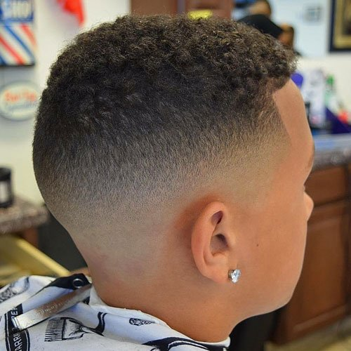 Buzz with High Skin Fade and Shape Up