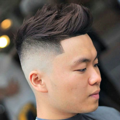 This Cool Faux Hawk Offers Versatility, Allowing Guys To Also Style A Slick  Back, Comb Over Or Spiky Hairstyle. And The Clean High Skin Fade With A  Line Up ...