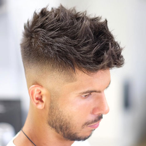 High Fade with Messy Spiked Hair