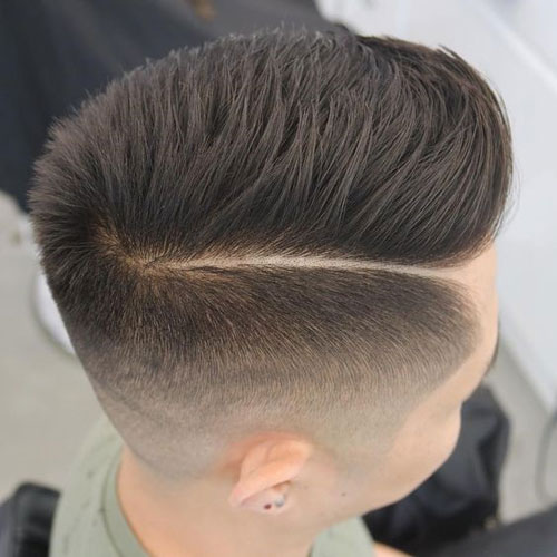High Skin Fade + Textured Hard Side Part