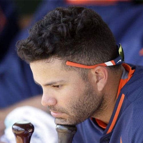 Jose Altuve - Textured Wavy Hair with Fade