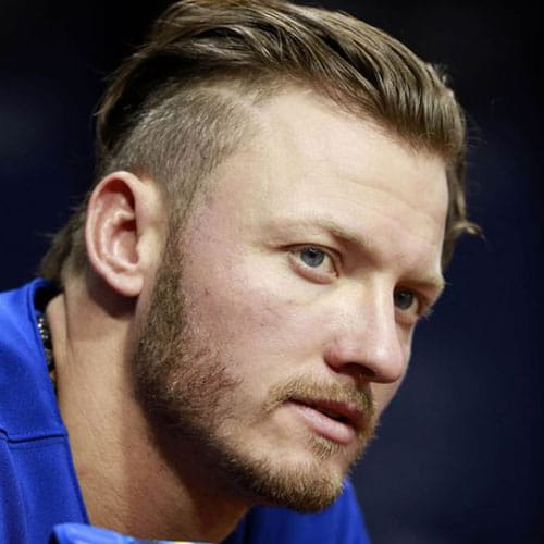 Josh Donaldson - Long Textured Slick Back Undercut