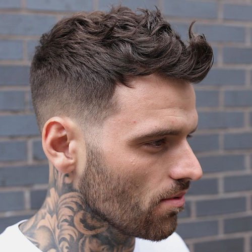 Low Taper Fade + Short Wavy Hair